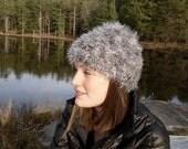 Marled Grey Mandarin Hat