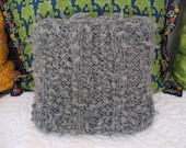 SALE 40% OFF!! Faux Shearling Pillow Pewter