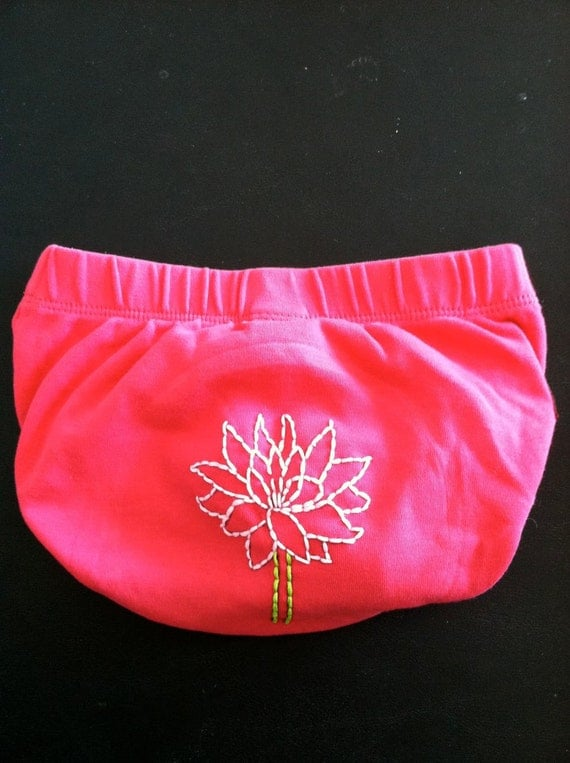 Pink Lotus Flower Tea Collection 12-18M Upcycle Diaper Cover