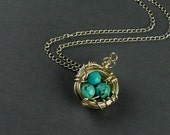 Massy Robin Egg Nest Sterling Silver Chain Necklace