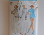 Misses Nightgown and Panties Size Medium Vintage Sewing Pattern by Simplicity 7237