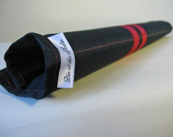 Black and Red Top Tube Bicycle Frame Pad - Contrast Stitching