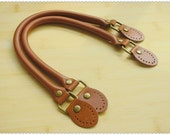 leather handle Brown 16.5 inch  a  pair K35