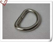 1.5 inch (inner diameter) thick D-rings Purse Hooks high quality 10  Pcs per bag  5mm thicker wire U61
