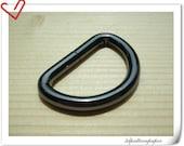 d-rings 1 inch (inner diameter) gunmetal 12pcs 5mm thinkness U59