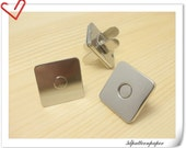 14mm super thin square nickel magnetic snaps 20pcs  (strongly magnetic) F15