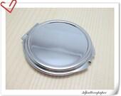 65mm Craft compact Mirror frame Nickel E15