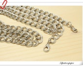 115cm (45 inch) silver  chains for purse C4  eye size 11mmx10mm K68
