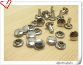 8MM nickel leather rivets 30sets Made of  Copper  Top Quality H17