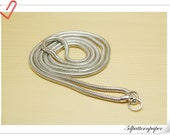 105cm Silver copper snap chain  for purse and bag K111