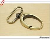 1.5  inch  (eyesize) egg-shape snap hook 6pcs Anti bronze  G11