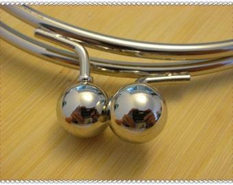 4 inch  nickel round metal purse frame excellent quality K97