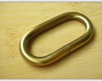 1.25 inch  (inner diameter) anti brass metal oval rings,oval loop 10pcs U46