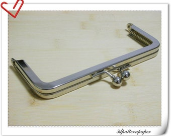 6 inch nickel purse frame metal frame clasp clip   L8