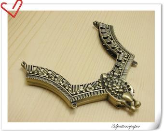 4 3/4 inch x 5 1/2 inch Anti Bronze Vintage  purse frame  (purse making supplies) D35