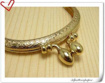 9.5 cm Golden Olive-headed purse frame A55