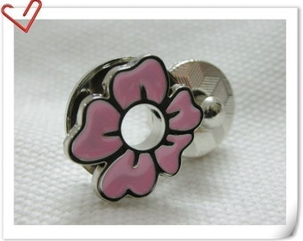 17mm flower Magnetic Snaps bag button purse Magnetic Snaps button PINK F56