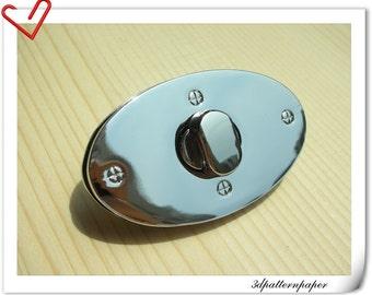 2.5  inch twist-locks Purse Flip Locks nickel E65