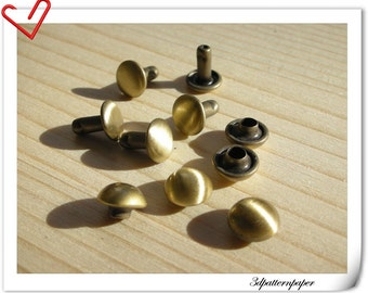 8mm dome rivets 30sets polished anti brass( Non rusting Make from copper)  H16