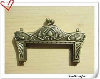 8cm anti bronze alloying  sewing purse frame purse making supplies Bag frame Handbag frame D14