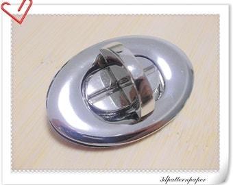 5cm twist-locks Purse Flip Locks Nickel E67