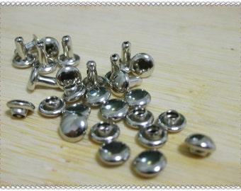 5mm Rivets 50sets per bag Nickel  make of Copper H24