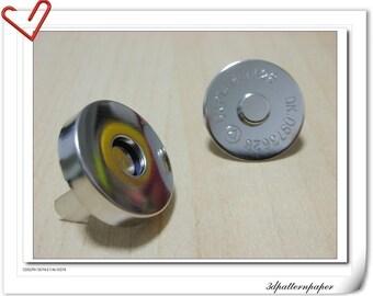 18mm Argentine Color Magnetic Snaps  Magnet Per Bag of 20 Sets Magnetic Fastener   F5