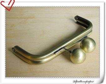 purse frame 6 inch anti brass big bead AB93