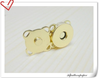 14mm sewing Magnetic Snaps closures golden 20sets F22