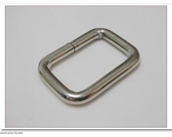 1 inch (inner diameter) nickel rectangle rings for bags fingdings 10pcs supplies U69