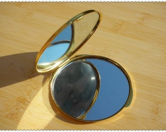 65mm Craft compact Mirror frame Gold  E17