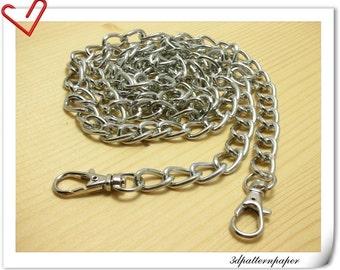 120cm nickel light weight  aluminous chains for purse rustless  K57