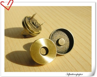 18mm Brushed anti bronze Cover  magnetic snap  (strongly magnetic) 20sets   F36
