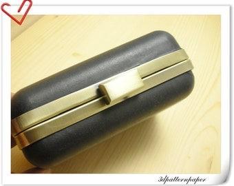 10% OFF 6 sets of 13.5cm  rectangle dressing case purse frame antique bronze Z18(6 sets)