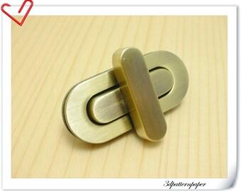 4.5cm twist-locks Purse Flip Locks puse locks Anti bronze E62