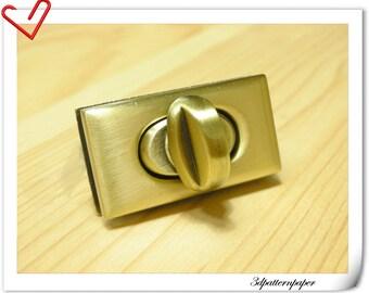 3.5cm( 1 3/8) self-locking twist-locks Purse Flip Locks puse locks Bronze E50