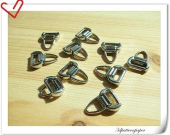 25 pcs Alloying Zipper pulls #5  Washable Sliver i52