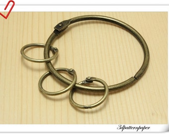 8.5cm Vintage bronze key organizer key holder key rings   E2