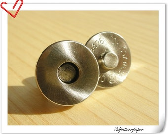 18mm Brushed nickel magnetic snap  (strongly magnetic) 20sets    F6