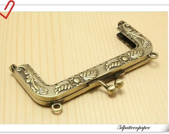 9.5cm Slap-up vintage ilhangga metal frame with CZ diamond purse frame D18