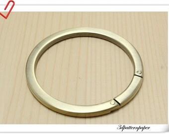 2 1/2 inch (inner diameter) Brushed anti bronze Round Gate Rings -  2 pcs E82