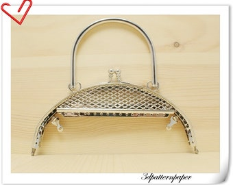 6 1/4 inch silver sewing purse  frame  Purse frame wholesale D49