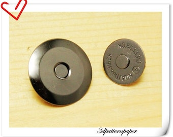 16mm super thin gunmetal magnetic snap  (strongly magnetic) 20sets F31