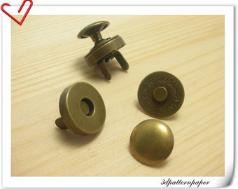 18mm RIVET Magnetic Snaps button Anti bronze 20sets F25