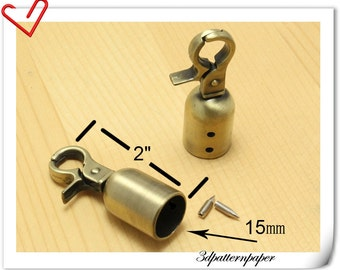 6pcs Anti bronze end stopper With hook   Rope End hook Cord end hook E24