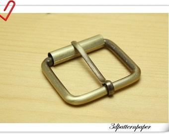 1.5 ( 1 1/2 )  inch Brushed anti bronze Pin buckle  Belf buckle (bag making) 6pcs E83