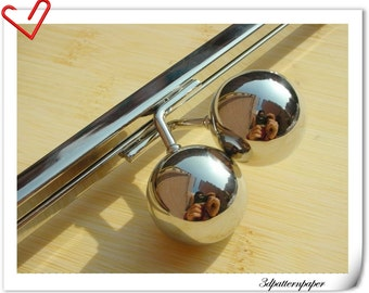 10 inch Big bead purse frame Nickel ( hollow Bobble more better for a purse ) Y25