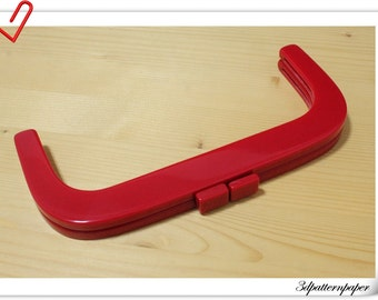 25cm x 11cm Red resin  purse frame bag frame bag handle K30