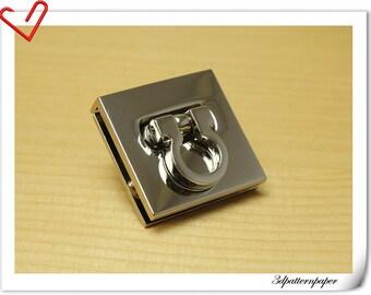 1 INCH twist-locks Purse Flip Locks puse locks SILVER AB25