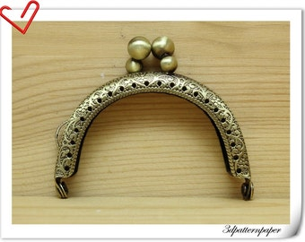 Purse frame  6.5cm Sew on Anti bronze for purse making AB98